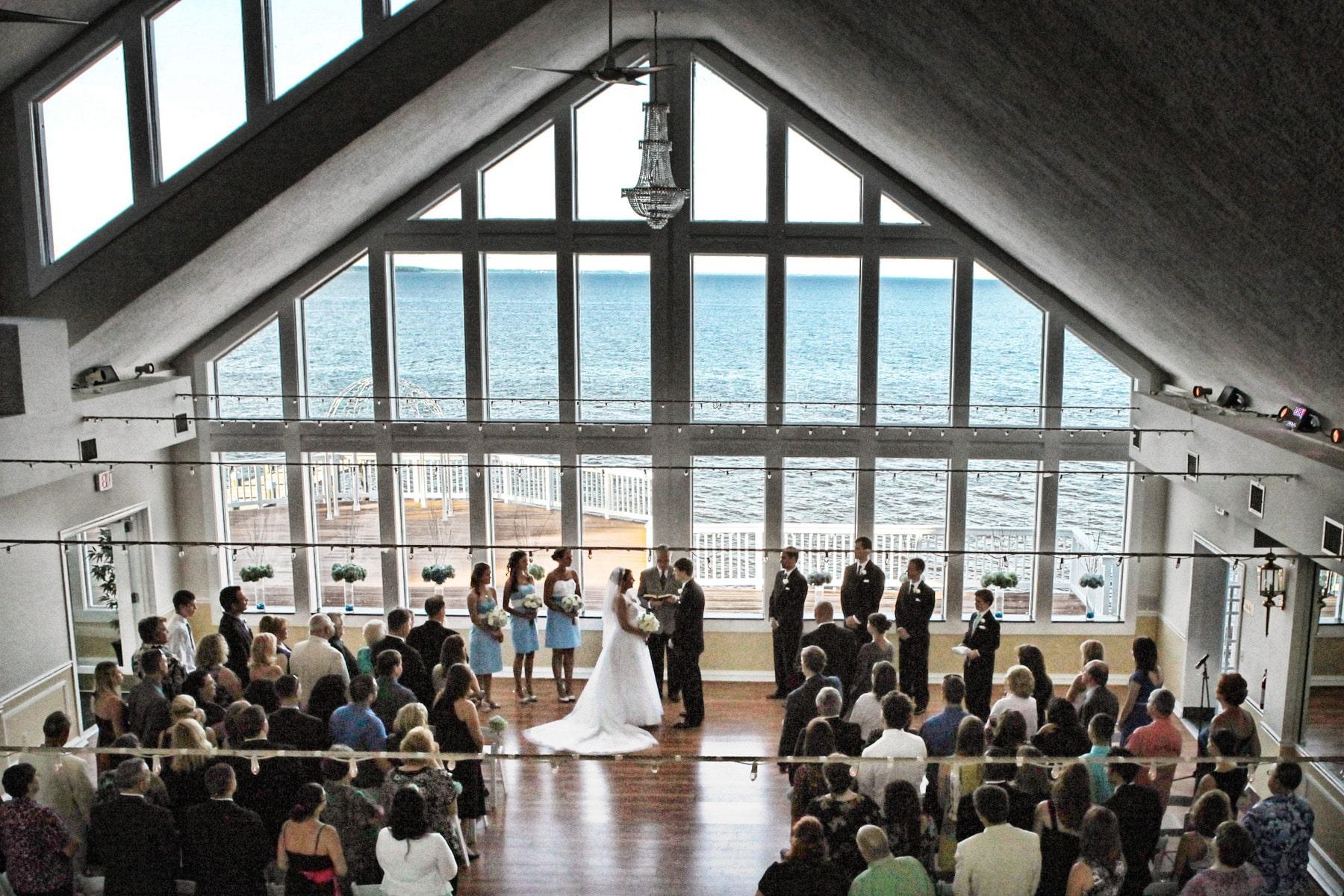View More Waterfront Weddings In The Chesapeake Ballroom Below Wedding Venue